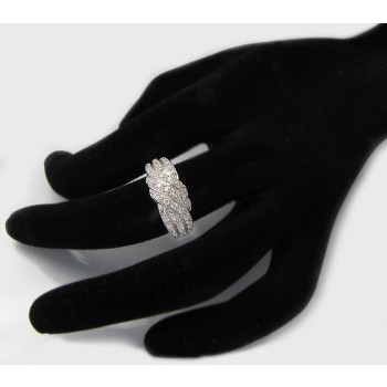 Stříbrný prsten se zirkony KPS116