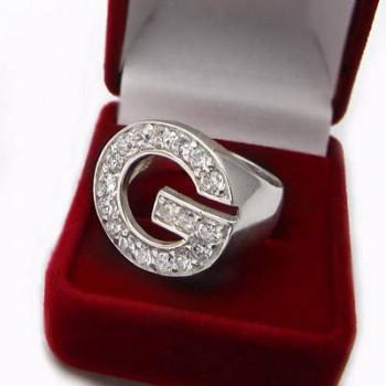 Luxusní stříbrný prsten se zirkony (KPS140)
