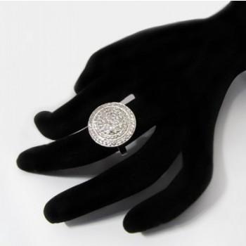 Luxusní stříbrný prsten se zirkony (KPS161)