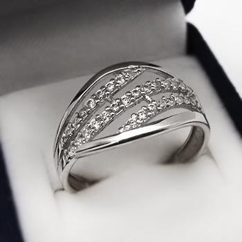 Moderní stříbrný prsten (KPS170)