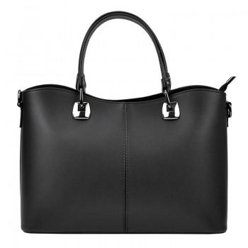 Černá značková kožená kabelka (GK22)
