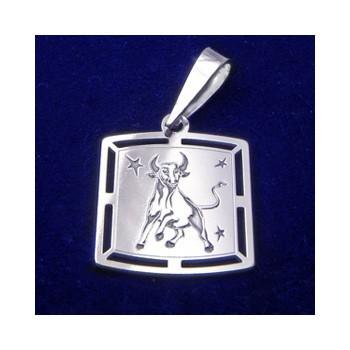 Stříbrný přívěsek-znamení býk