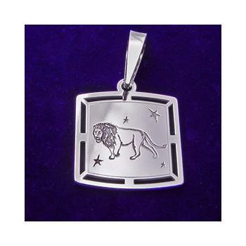 Stříbrný přívěsek-znamení lev