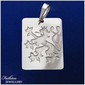 Stříbrný přívěsek český lev (KPRS140)