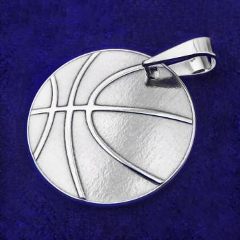 Stříbrný přívěsek basketbalový míč (KPRS170)
