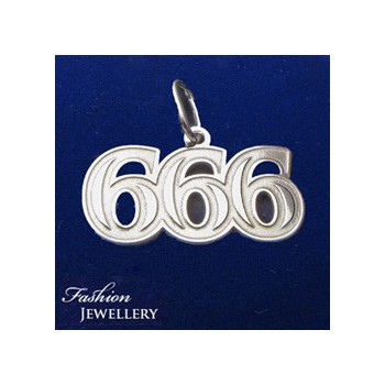 Stříbrný přívěsek 666 (KPRS158)