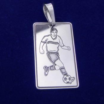 Přívěsek fotbalista - stříbrný-(KPRS048)