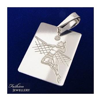 Stříbrný přívěsek Volejbalista (KPRS149)